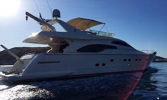 Have an amazing time in Nicosia, Cyprus on 68' Ferretti Power Mega Yacht