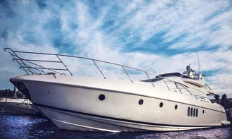 An amazing charter experience in Mikonos, Greece on 68' Azimut Plus Power Mega Yacht