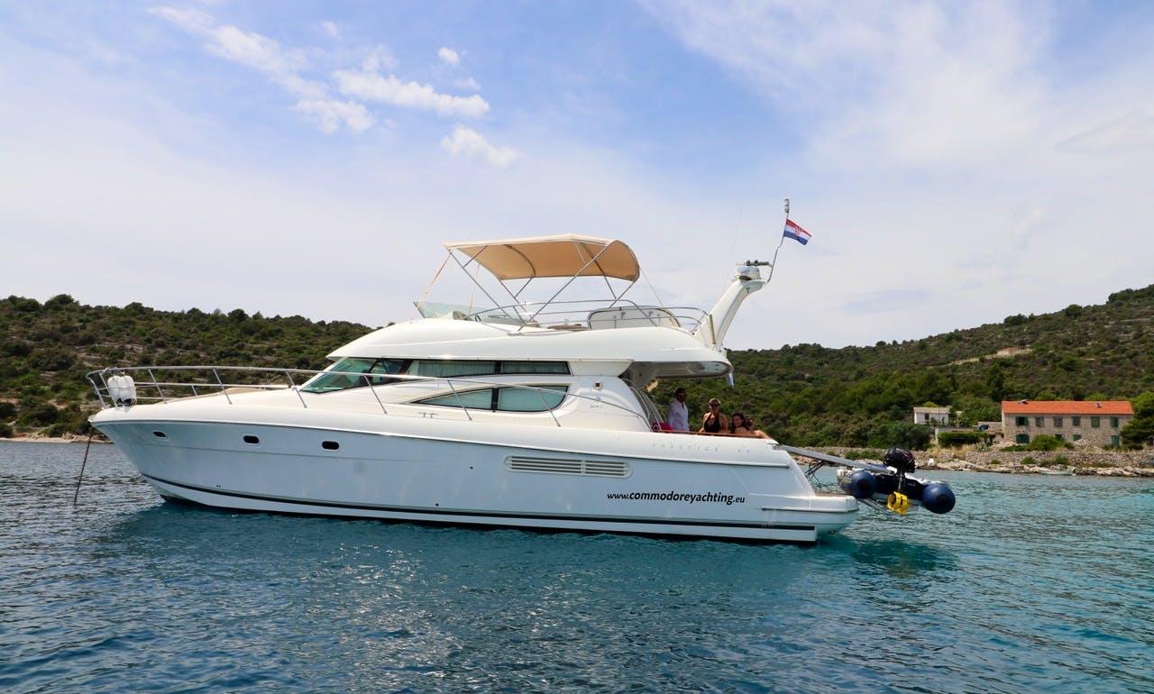 Jeanneau Prestige 46 Fly in Supetar, Croatia with an Experienced Skipper