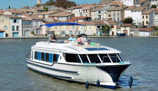 Experience The History And Heritage Of Canal Du Midi On Canal Boat Cruise For 7 Person