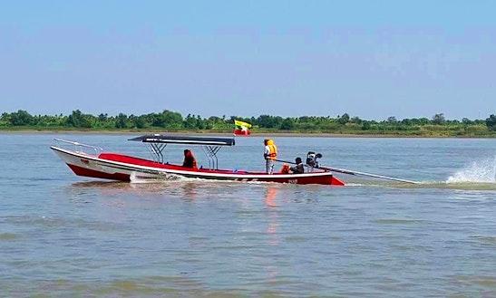 Enjoy Boat Trips In Yangon, Myanmar On 10 Persons Dinghy