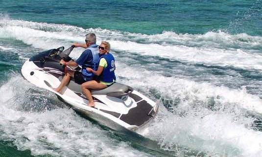 Hit the water in Pwani Mchangani, Zanzibar with Jet Ski rental