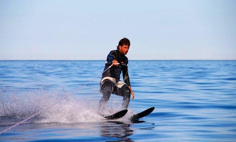 Have an amazing water skiing experience in Pwani Mchangani, Zanzibar
