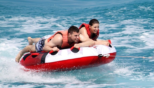 Experience Fun Tubing In In Huraa, Maldives