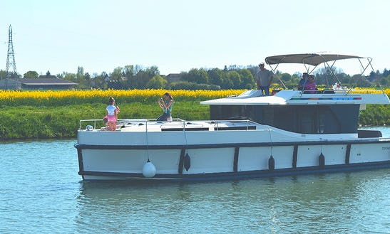 See The Calm Village And Wine Region Aboard 49' Canal Boat In Burgundy, France
