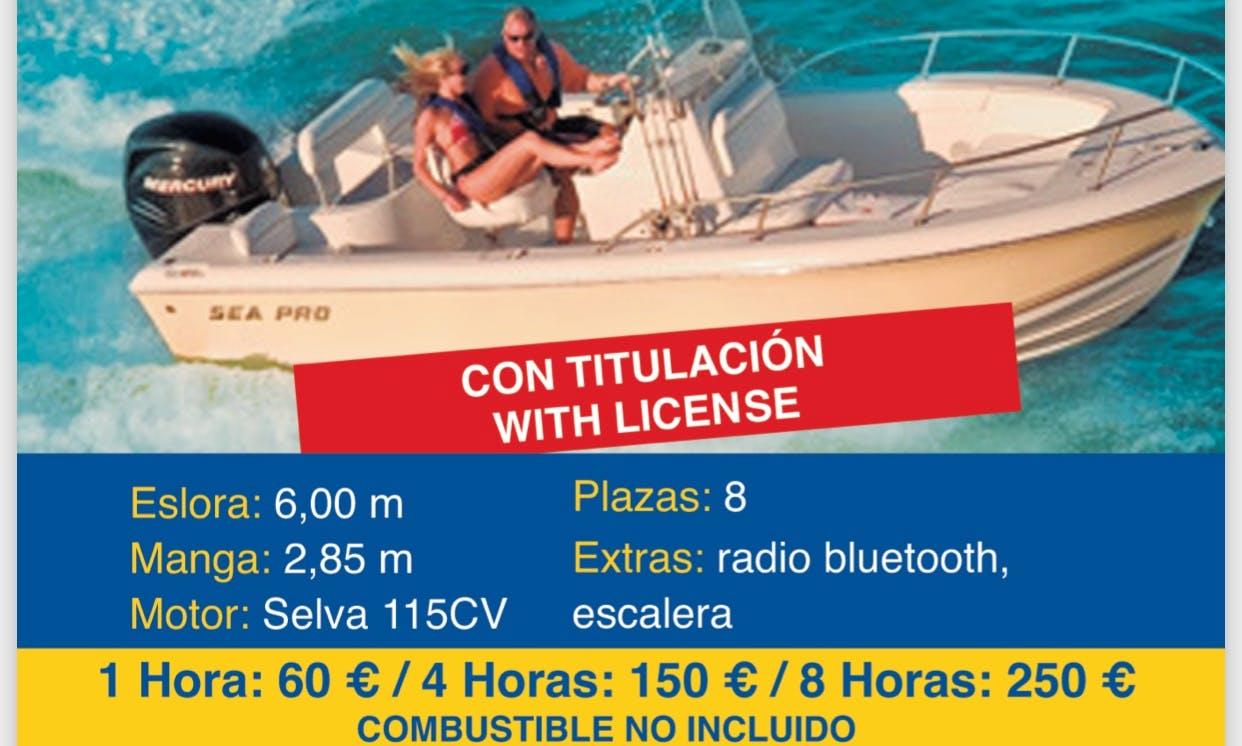 8 Person Center Console rental in Altea, Spain