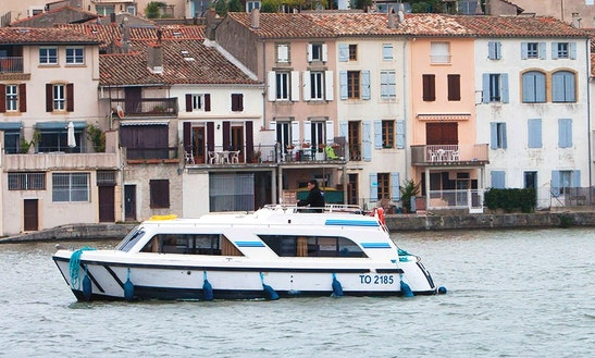 Amazing 7 Nights Aboard 29' Canal Boat In Canal Du Midi, France