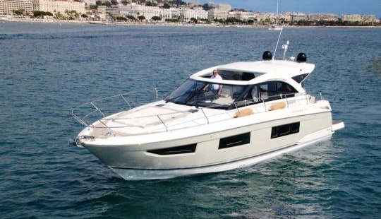 An Amazing Charter Experience On Jeanneau Leader 36 Motor Yacht In Vallauris, France