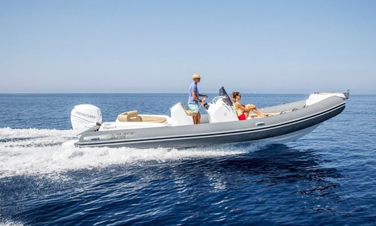 Black Fin Elegance 8 Rib Rental In Vallauris, France For 12 Person