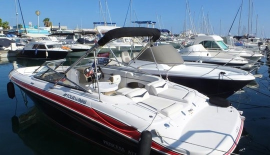 Cruise Along The Vallauris, France With This Four Winns Horizon 220 Bowrider