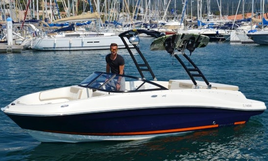 Hit The Water In Vallauris, France On 20' Bayliner Vr5 Bowrider