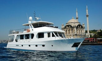Rent this motor yacht for up to 20 guests for an amazing cruise in İstanbul, Turkey