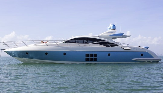 70' Luxury Italian Motoryacht Cruising the Waters of NYC to the Hamptons