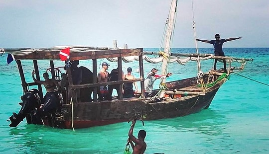 Sunset Cruise On A Traditional Dhow Boat In Zanzibar, Tanzania