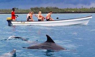 Cruise along the Zanzibar, Tanzania with this Dinghy for 6 person