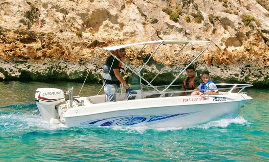 Cruise Aboard A Self-driven Speedboat For 3 Person In Xlendi Bay, Munxar