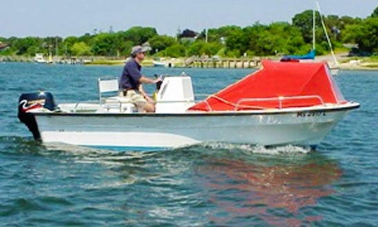 16ft Luxury Center Console Boat Rental In Yarmouth, Massachusetts