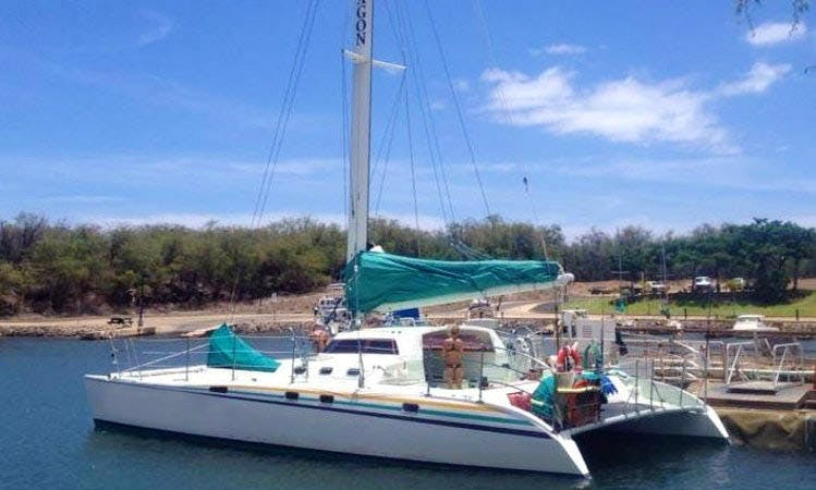 "Enjoy 47 ft ""Paragon"" Sailing Catamaran Charter in Kula, Hawaii"