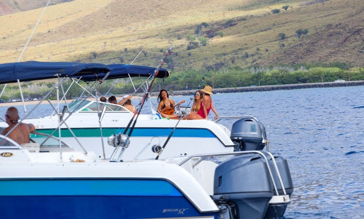 Glacier Bay Boats >> 24ft Glacier Bay 2240 Sx Renegade Rental In Kihei Hawaii