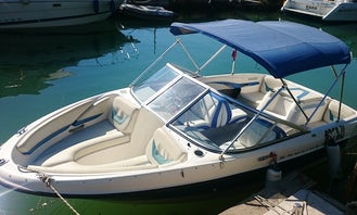 7 person Bowrider rental with Bimini top in Nin, Croatia