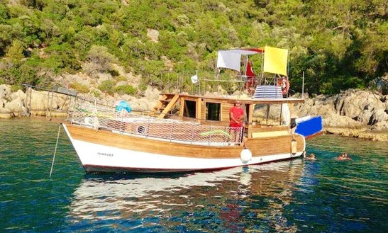 Enjoy The Beautiful Beaches Around Fethiye On This 12 Persons Motor Yacht