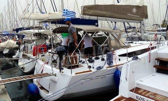 Hit The Water In Athens, Greece On 46' Jeanneau Sun Odyssey Cruising Monohull