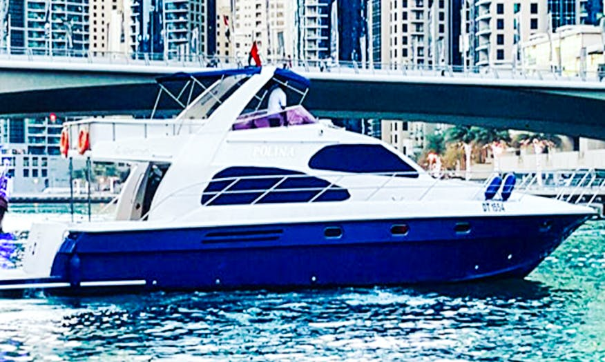 MNH 64' Power Motor Yacht Charter in Dubai, United Arab Emirates For 25 People
