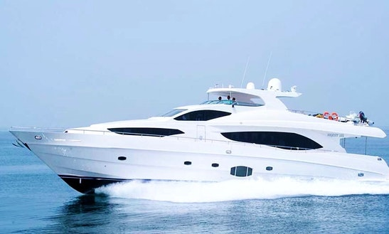 Majesty 101 Power Mega Yacht Charter In Dubai, United Arab Emirates For 50 People