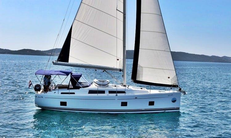 "41-foot Hanse 418 ""Eva"" Cruising Monohull Charter in Sukošan, Dalmatia"