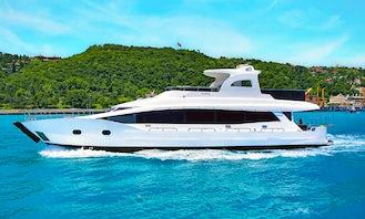 2016 Custom Mega 24m Luxury Yacht Rental in İstanbul