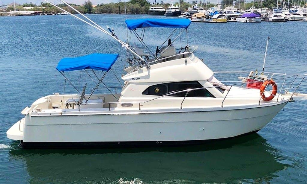 Fishing Charter on 29' Deep Sea Monaco Flybridge Cruiser in Subic, Philippines