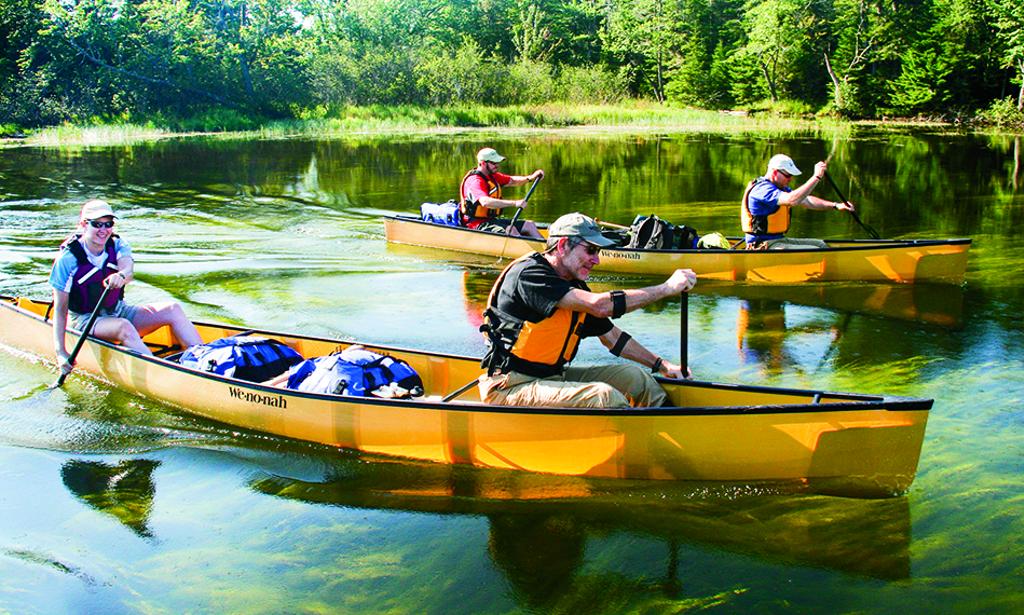 Canoeing on Lake George