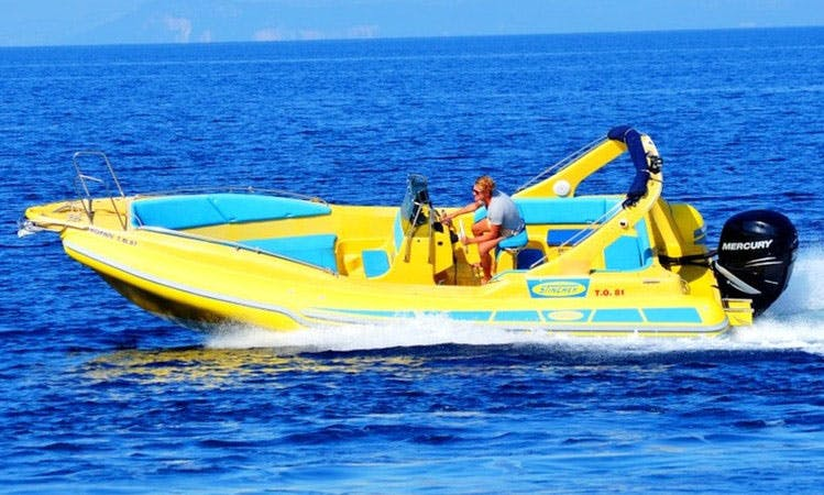Stingher 747, RIB Rental, available in all Ionian Islands