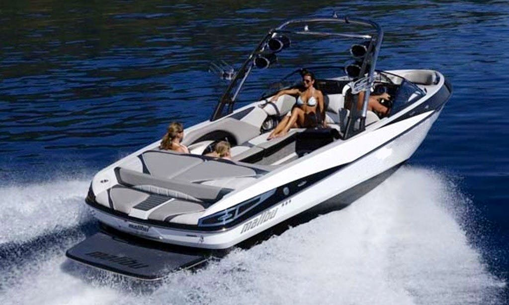 Malibu Wake Setter Bowrider for 10 People in Hazafon, Israel