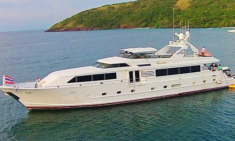 Explore Chon Buri, Thailand on Power Mega Yacht for 35 people