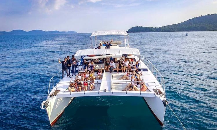 "Charter this beautiful ""Dragon"" Cruising Catamaran to discover the beauty of Chon Buri, Thailand"