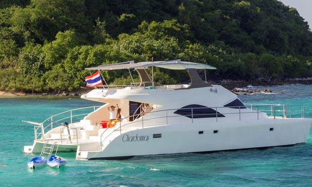 "Charter a luxury ""Chardonney"" Power Catamaran in Chonburi, Thailand"