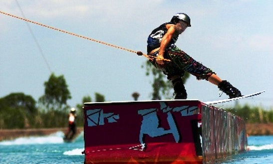 Wakeboarding In Tambon Bung Kham Proi