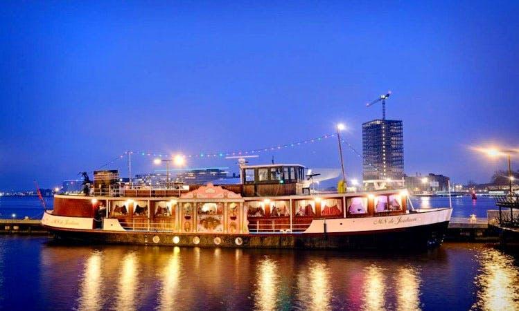 "70ft ""MS Jordaan"" Passenger Boat Rental In Amsterdam, Netherlands"