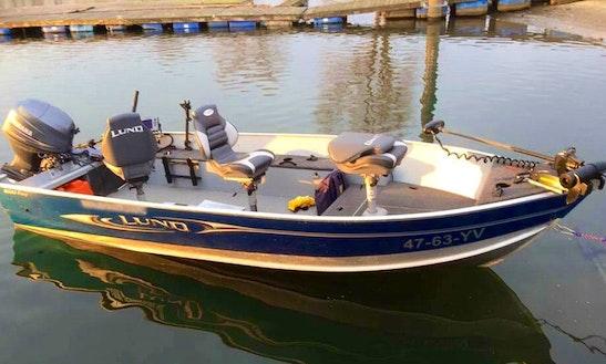 Enjoy Fishing In Tiel, Amsterdam, Netherlands On 16' Lund 1600 Fury Jon Boat