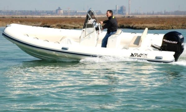 Experience the thirll of water in Milazzo, Sicilia aboard this Blackfin CI 630 RIB