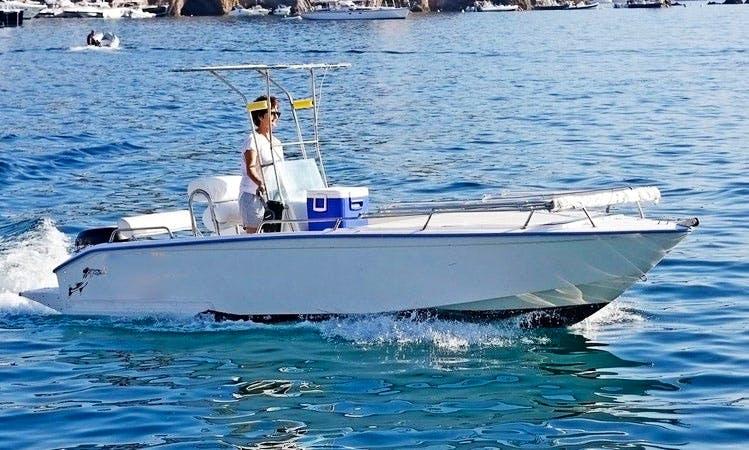 16ft Barracuda Center Console For Rent in Ponza Lazio, Italy
