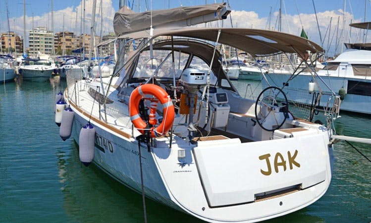 "Charter 44ft ""Jak"" Sun Odyssey 449 Sailing Yacht In Nettuno, Italy"