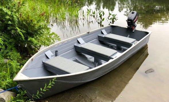 Fishing Jon Boat for rent in Hartland on Great Moose Lake