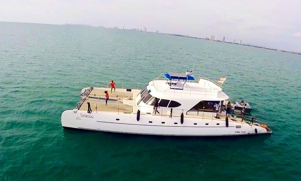 "The perfect way for cruising in Chon Buri, Thailand on ""White Swan"" Catamaran"