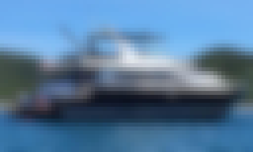 "Enjoy the beauty of the sea in Chon Buri, Thailand on ""Superstar Scubidu"" Power Mega Yacht"