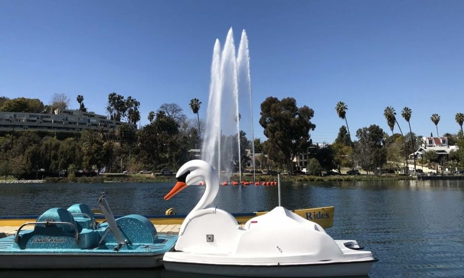 Hand Crank Pedal Boat Rental in Los Angeles, California