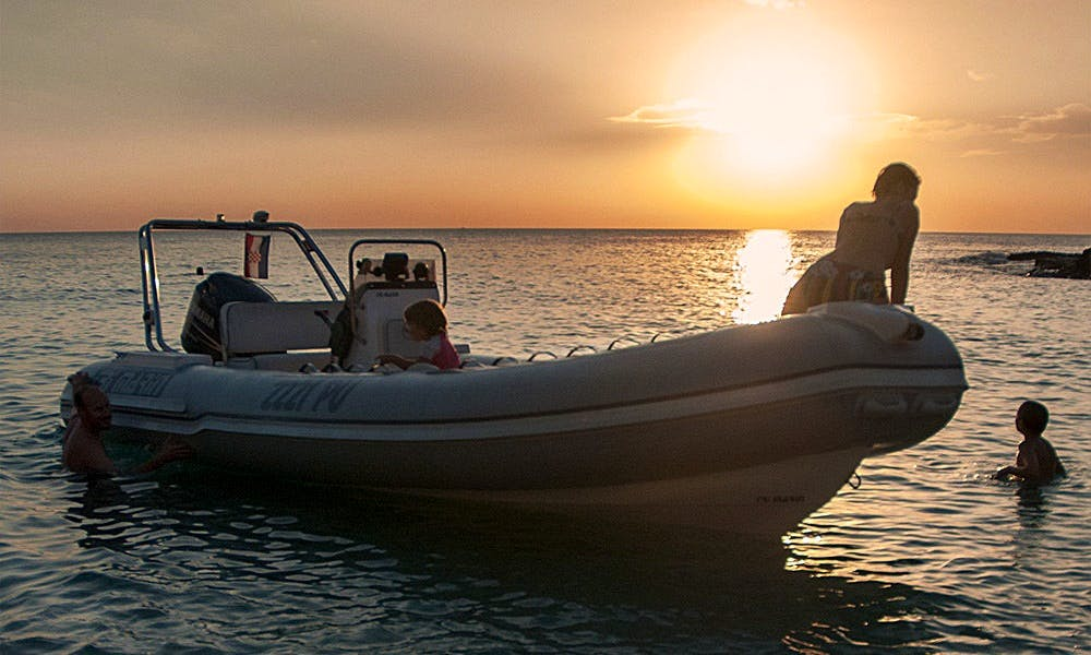 Trimarin Inflatable Boat Ready to Explore Rovinj