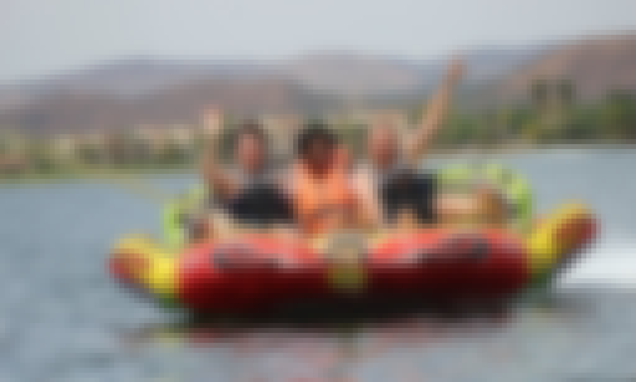 Feel the thrill of water by tubing in Hartbeespoort, South Africa
