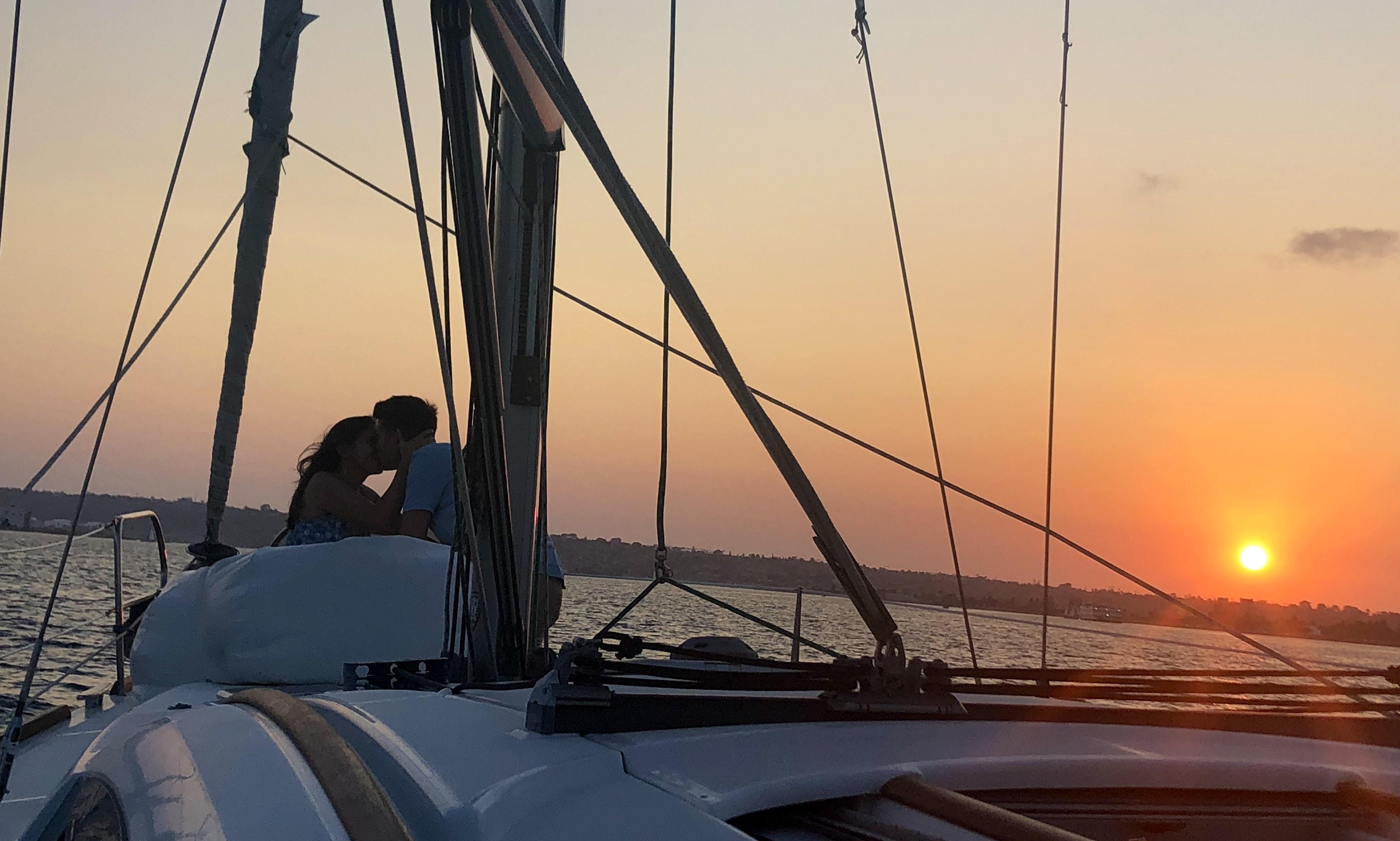 Sunset Sail Aboard A Beneteau Oceanis 40 Sailing Yacht Getmyboat